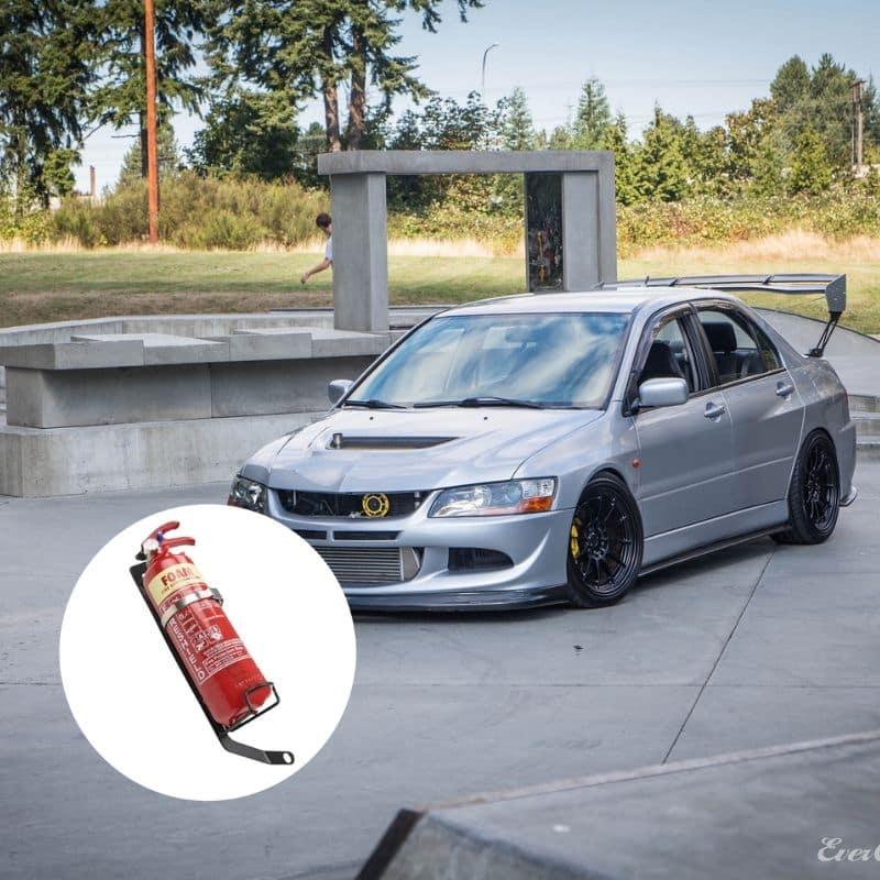 tokyo motorsports » evo 7, 8, 9 fire extinguisher bracket  tokyo motorsports